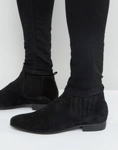 Замшевые ботинки челси Hudson London Zelus - Черный