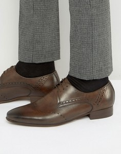 Кожаные броги Hudson London Erato - Коричневый