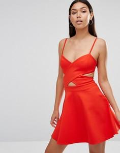 Приталенное платье с вырезами Wyldr In Love - Оранжевый