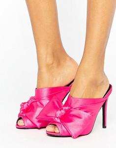 Сабо на высоком каблуке ASOS HAVOC - Розовый