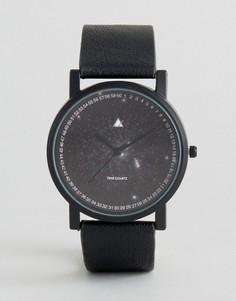 Часы с принтом космоса на циферблате ASOS - Черный