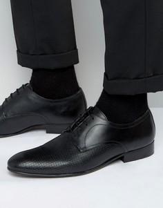 Кожаные туфли дерби Base London - Черный