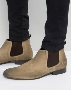 Замшевые ботинки челси Base London - Рыжий