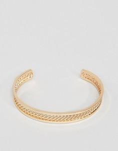 Золотистый браслет ASOS - Золотой