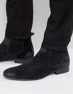 Замшевые ботинки челси Base London - Темно-синий