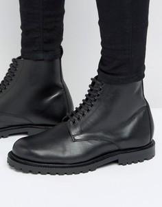 Кожаные ботинки со шнуровкой Hudson London эксклюзивно для ASOS - Черный