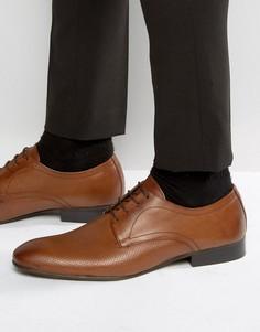 Кожаные туфли дерби Base London - Рыжий