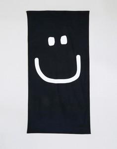 Пляжное полотенце с лицом ASOS - Черный