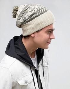 Серая шапка-бини Volcom Sweater - Серый