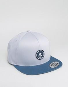 Серо-синяя саржевая бейсболка Volcom - Серый