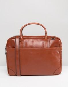 Кожаная сумка для ноутбука с одним отделением Royal RepubliQ Explorer - Рыжий