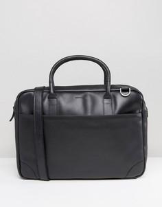 Кожаная сумка для ноутбука с одним отделением Royal RepubliQ Explorer - Черный