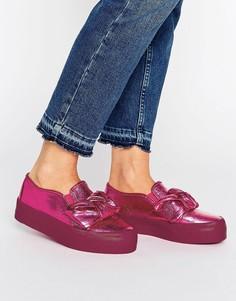 Кроссовки на платформе с бантом ASOS DARA - Розовый