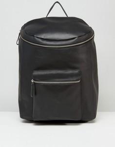 Черный кожаный рюкзак Sandqvist Tobias - Черный