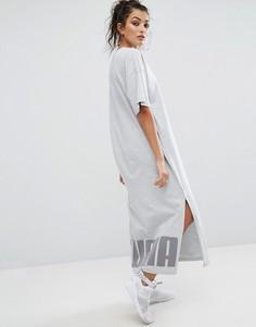 Серое платье-футболка макси Puma - Серый