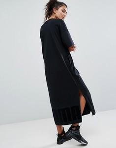 Черное платье-футболка макси Puma - Черный