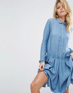 Приталенное платье в джинсовом стиле Boss Orange - Синий