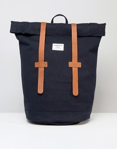 Синий рюкзак с отворотом сверху Sandqvist Sonja - Синий