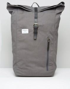 Серый рюкзак ролл-топ Sandqvist Dante - Серый