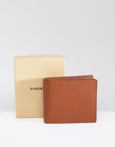 Коричневый кожаный бумажник Sandqvist Bill - Коричневый