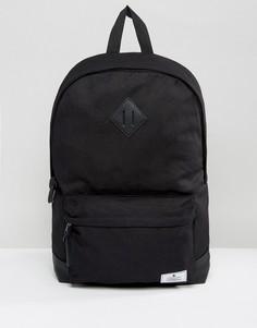 Черный парусиновый рюкзак с основанием из искусственной кожи ASOS - Черный