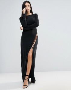 Платье макси со шнуровкой The Jetset Diaries Novella - Черный