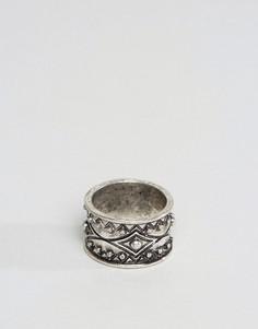 Кольцо с геометрическим дизайном ASOS - Серебряный