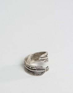 Кольцо с дизайном в виде пера ASOS - Серебряный