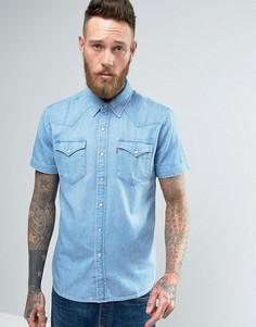 Джинсовая рубашка классического кроя в стиле вестерн с короткими рукавами Levis - Бежевый Levis®