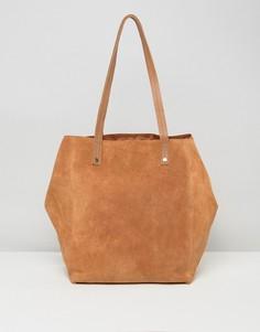 Замшевая сумка-шоппер ASOS - Рыжий