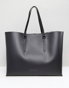 Черная большая сумка-тоут Armani Jeans East West - Черный