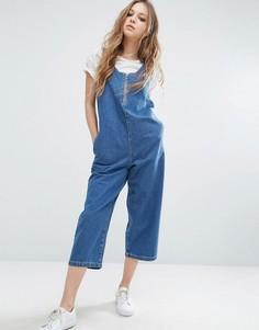 Укороченный джинсовый комбинезон Noisy May - Синий