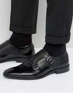 Кожаные туфли-монки KG Kurt Geiger Brook - Черный