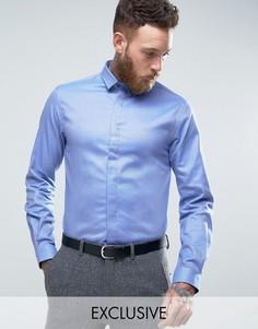 Облегающая саржевая рубашка Heart & Dagger - Синий