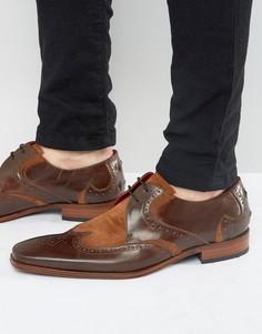 Кожаные туфли дерби с замшевой отделкой Jeffery West Scarface - Коричневый