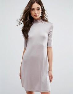 Блестящее платье Y.A.S - Розовый