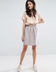 Жаккардовая юбка Y.A.S - Розовый