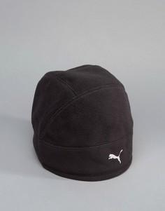 Черная шапка-мини для бега Puma Alpha Warmcell 02106501 - Черный