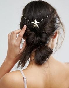 Украшение для волос ограниченной серии со звездой - Золотой Asos