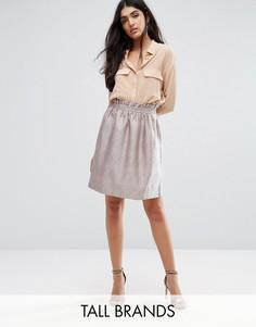 Фактурная юбка для выпускного Y.A.S Tall Dodo - Серебряный