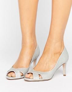Туфли на среднем каблуке ASOS SAGE - Серебряный