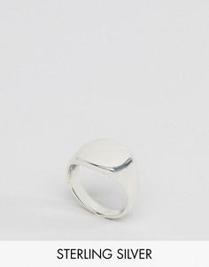 Серебряное кольцо-печатка Regal Rose - Серебряный