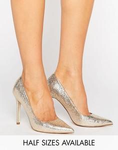 Туфли на высоком каблуке с острым носком ASOS PERU - Золотой