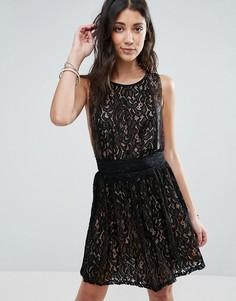 Кружевное платье без рукавов Raga Lani - Черный