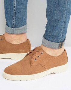 Замшевые туфли с 3 парами люверсов Dr Martens Coronado - Рыжий