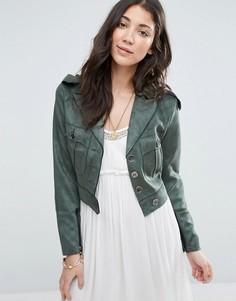 Зеленая куртка из искусственной замши Raga No Rules - Зеленый