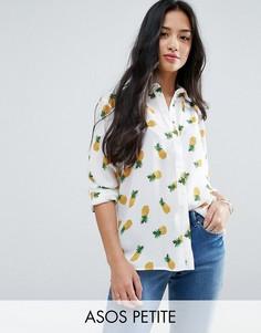 Блузка с ананасами ASOS PETITE - Мульти