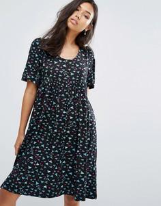 Платье-трапеция Ivana Helsinki Moomin Laina - Темно-синий
