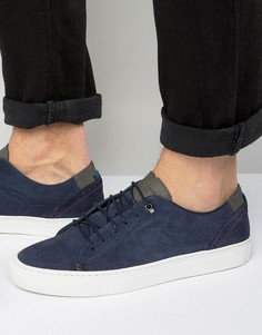 Замшевые кроссовки Ted Baker Kiing - Темно-синий