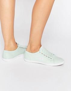 Саржевые кроссовки мятного цвета Fred Perry Kingston - Зеленый